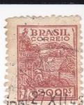 Stamps Brazil -  Recolección del trigo
