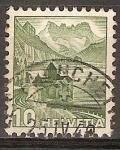 Sellos del Mundo : Europa : Suiza : Castillo de Chillon y los dientes del sur.
