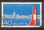 Sellos del Mundo : Europa : Suiza : Inauguración del Aeropuerto de Zurich.
