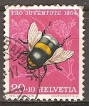 Sellos del Mundo : Europa : Suiza : Pro juventud (abeja).