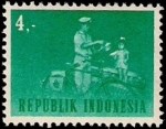 Sellos de Asia - Indonesia -  Cartero