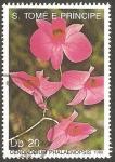 Stamps São Tomé and Príncipe -  Flor dendrobium phalaenopsis