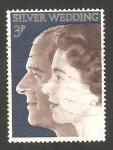 Stamps United Kingdom -  672 - Bodas de plata de la pareja real
