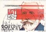 Sellos de Europa - España -  I Centenario de la UGT- Pablo Iglesias    (Ñ)
