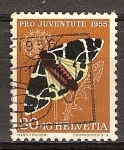 Sellos de Europa - Suiza -  Pro juventud (mariposas-polillas).