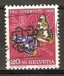Sellos del Mundo : Europa : Suiza : Pro juventud ( mariposa Emperador Púrpura).