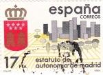 Sellos de Europa - España -  Estatuto de autonomía de  Madrid    (Ñ)