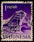 Sellos de Asia - Indonesia -  Edificaciones