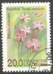 Sellos del Mundo : Asia : Uzbekistán : Flor