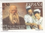 Stamps Spain -  175 aniv. del nacimiento Dr. Federico Rubio       (Ñ)