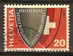 Sellos del Mundo : Europa : Suiza : Escudo (Defensa Civil).