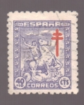 Stamps Europe - Spain -  Pro- tuberculosos- Cruz de Lorena