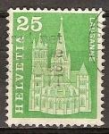 Sellos de Europa - Suiza -  Catedral de Lausana.