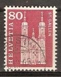Sellos del Mundo : Europa : Suiza : Catedral de St. Gall.