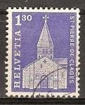 Sellos del Mundo : Europa : Suiza : Iglesia de ST Pierre de Clages.