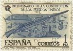 Stamps : Europe : Spain :  BICENTENARIO DE LA CONSTITUCION DE LOS ESTADOS UNIDOS