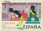 Stamps : Europe : Spain :  CINTURON DE SEGURIDAD