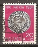 Sellos de Europa - Suiza -  Pro Patria (Moneda de plata de 1521 con los brazos Basilea ).