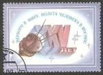 Sellos de Europa - Rusia -  5294 - Viñeta, Día de la cosmonautica, Vostok y 25 Anivº