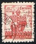 sellos de Europa - España -  450 ANIVERSARIO 1493-1943