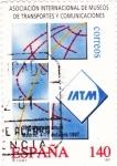 Stamps Spain -  Asociación internacional de Museos de Transporte y Comunicaciones    (Ñ)