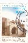 Stamps Spain -  Catedral de Tui (Pontevedra)     (Ñ)