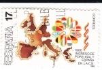 Sellos de Europa - España -  Ingreso de España y Portugal en la C.E         (Ñ)