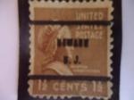 Stamps United States -  MARTHA  WASHINGTON 1731-1802 (Primera Dama de USA).