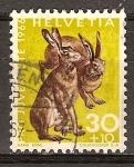 Sellos de Europa - Suiza -  Pro juventud (Liebre marrón).