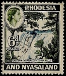 Stamps Africa - Zambia -  Cataratas Victoria