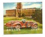 Stamps Bhutan -  Automóviles de Época  Hispano Suiza  3D