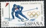 Sellos de Europa - España -  1851- X Juegos Olímpicos de invierno en Grenoble. Esquí.