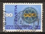 Sellos de Europa - Suiza -  75 aniv de la Oficina Central Internacional para el Transporte Ferroviario (OCTI).