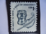 Stamps United States -  The Ability to Write-A Root of Democracy.