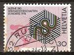 Sellos del Mundo : Europa : Suiza : Campeonato del Mundo de Esquí Alpino de 1974 en St Moritz.