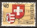 Sellos de Europa - Suiza -  Creación del Cantón de armas de Jura de Suiza .