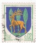 Sellos de Europa - Francia -  Escudo Heráldico de  GUERET