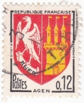 Stamps : Europe : France :  Escudo Heráldico de  AGEN
