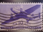 Stamps United States -  United States of America-Avion