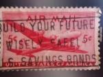 Sellos de America - Estados Unidos -  United States of America-Avion