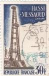 Stamps France -  Pueblo de Hassi-Messaoud-Sahara