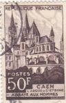 Stamps France -  Caen- Abadía Aux Hommes