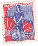 Stamps France -  Marianne en una nave