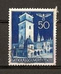 Sellos de Europa - Polonia -  Ocupacion Alemana./ Torre de Cracovia.