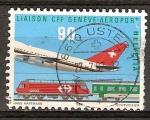 Sellos del Mundo : Europa : Suiza : Conexión ferroviaria del aeropuerto en Ginebra.