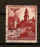 Sellos de Europa - Polonia -  Ocupacion Alemana./ Castillo de Wavel,Cracovia.