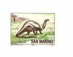 Stamps Europe - San Marino -  Fauna Prehistorica - Brontosaurus