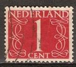 Sellos de Europa - Holanda -  Numeral.