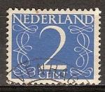 Sellos del Mundo : Europa : Holanda : Numeral.