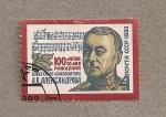 Sellos de Europa - Rusia -  100 Aniv. nacimiento compositor Aleksandrov